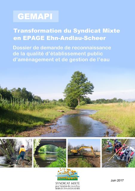 Dossier de reconnaissance de l'EPAGE Ehn-Andlau-Scheer
