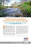 Plaquette GEMAPI éditée par le ministère de l'écologie
