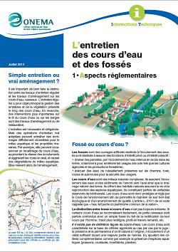 Les aspects règlementaires de l'entretien des cours d'eau et fossés